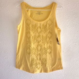 SONOMA | Lemon Yellow Aztec Print Cami Tank Top